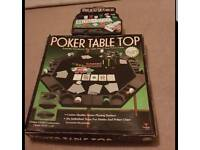 Poker table and chips set