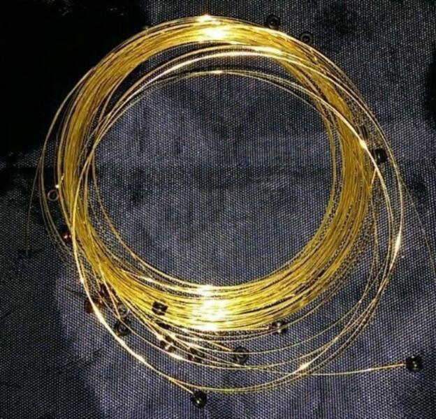 Elektro Baglama Teli Altin Kaplama Takim Set 135 cm.