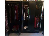 2 door 6ft wardrobe, 3 door 6ft wardrobe& Chest of Drawers - 5 Drawer