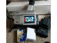 Panasonic nv-ds15b digital video camera with battery x2 tapes x2 and recharger