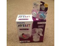 Avent breast pump and soothers