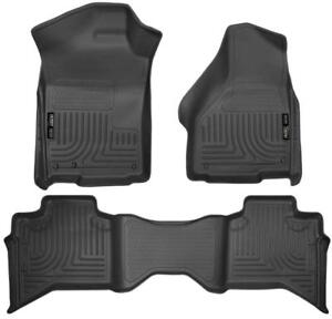2009-2018 Dodge Ram QUAD CAB Husky Liner Weatherbeater Floor Liners (Molded Floor Mats) | Free Shipping | motorwise.ca