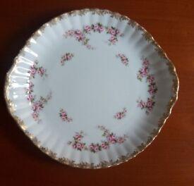 Royal Albert 'Dimity Rose Bone China Cake Serving Plate 10.5 inches diameter