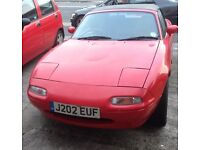MX5, mk1, long MOT and lots of extras, low mileage for age of car.