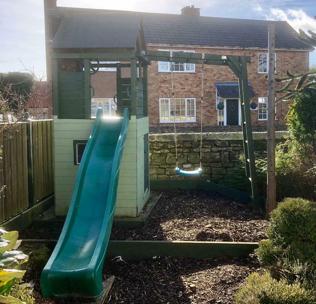 Children's Wendy House, play frame, slide & swing | in Leeds, West Yorkshire | Gumtree