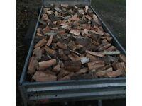 Unseasoned Fire Wood Logs Log Burner Fire Fuel Trailer Load Delivered Near Derby