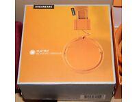 Urbanears Plattan On-Ear Headphone - Bonfire Orange NEW