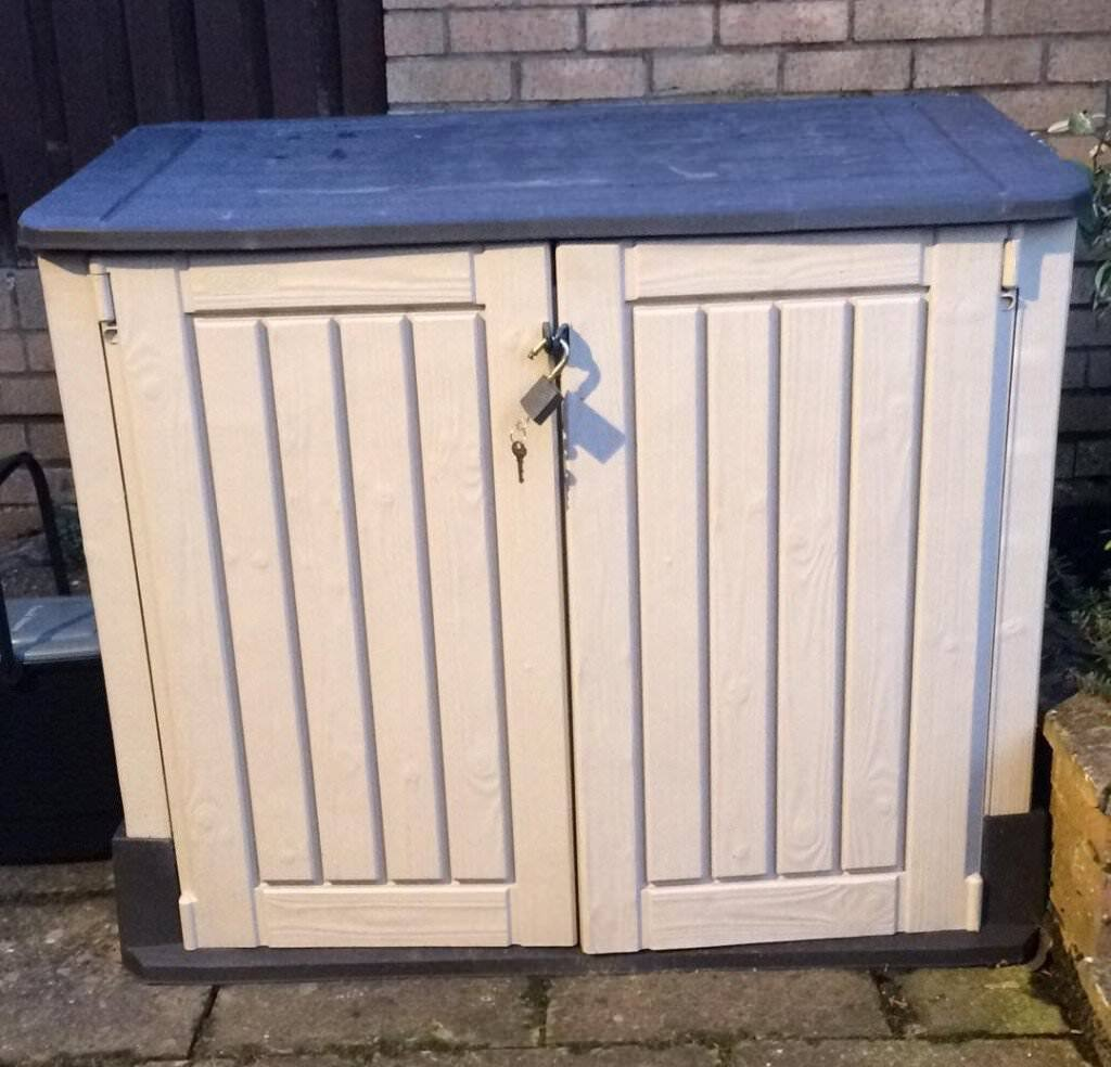KETER STORE IT OUT GARDEN OUTDOOR STORAGE WOOD EFFECT PLASTIC UNIT/BOX/SHED