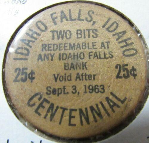 1963 Idaho Falls, ID Centennial Wooden Nickel - Token #4