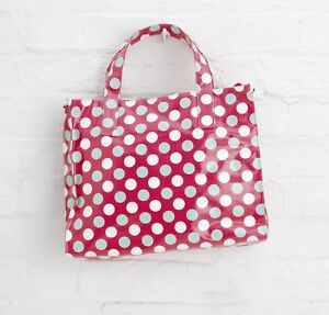 Red Spotty Oilcloth Shopping Gym Swimming Bag By Katz Dancewear PP5P Christmas