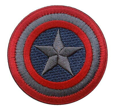 Captain America SUBDUED ACU round shield VELCRO® BRAND Hook Fastener Patch