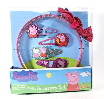 Peppa Pig Hair Accessory 5 Piece Set NWT