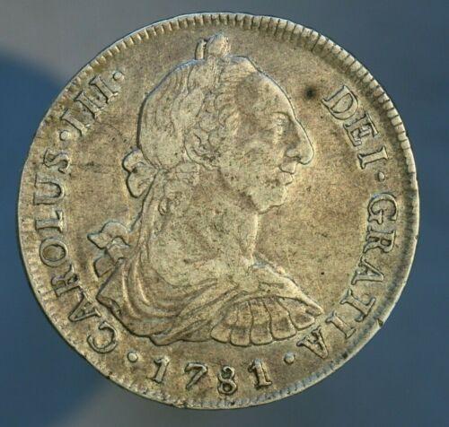 Peru 1781 8 Reales VF/XF Flan Flaw Reverse  A568