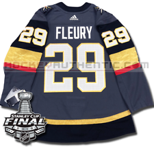 MARC-ANDRE FLEURY VEGAS GOLDEN KNIGHTS 2018 STANLEY CUP ADIDAS HOME JERSEY