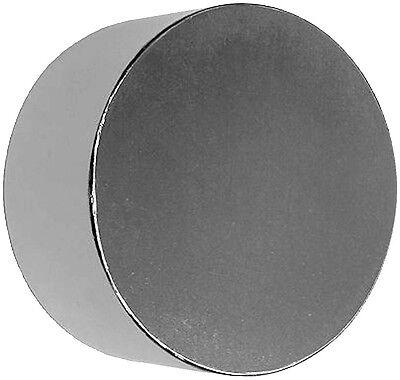 Neodymium Magnet 2 X 1 Inch Disc N48 Big Rare Earth