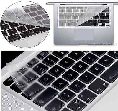 """Ultra Thin Clear  Silicone Keyboard Cover for Macbook Pro Retina Air 13"""" 15"""" 17"""