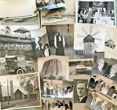 Lot of 18 Vintage Black & White Photos 1960's People Travel