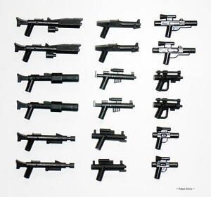 Little Arms - 18 Blaster Minigun Gewehr Waffen für LEGO® Star Wars™ Figuren