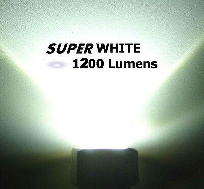 SUPER WHITE LED BOAT DRAIN PLUG LIGHT 1200 LUMENS UNDERWATER GARBOARD 12v / 24v