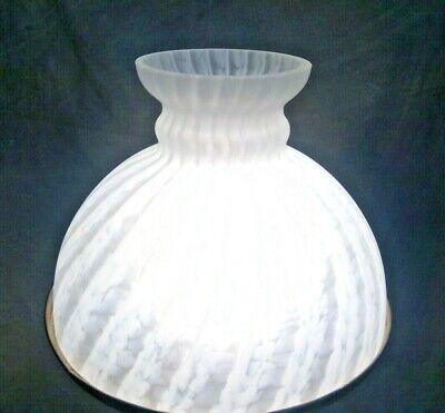"""10"""" White Swirl Noisett Frit Pattern Vianne Oil Lamp Shade for Rayo Lamp Globe"""