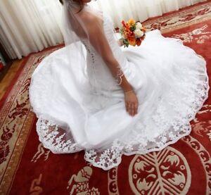 Robe de mariée et voile - Wedding dress and veil