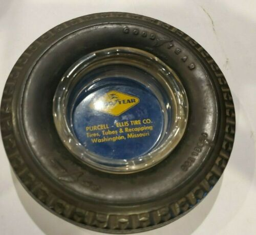 Vintage GOODYEAR SUPER CUSHION DELUXE Tubeless TIRE Ashtray 1950