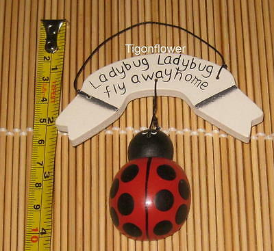 Wood Sign Cut Out Ladybug Fly Away Home Spring Garden Country Buy 2 get 1 (Wood Ladybug)