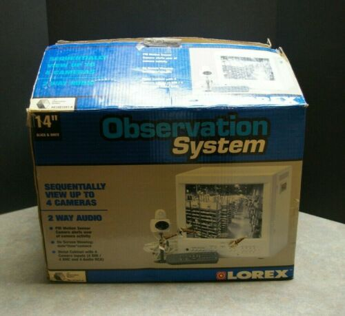 "LOREX 14"" OBSERVATION SYSTEM BLACK AND WHITE SECURITY MONITOR SG14S1041-A"