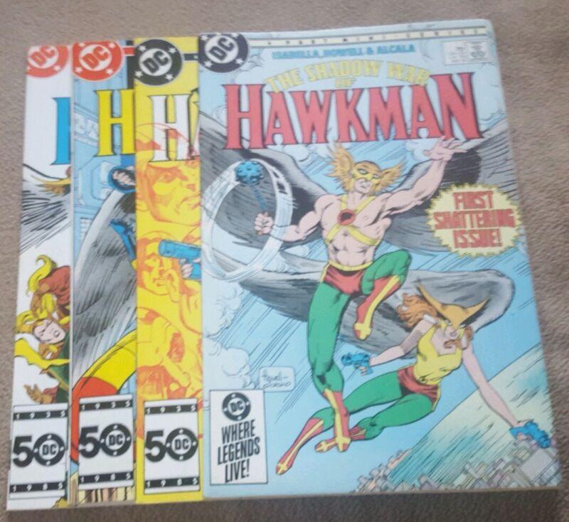 The Shadow War Of Hawkman #1-4 complete mini-series (1985) DC Comics