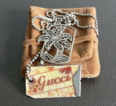 NEW $1540.00 GUCCI DOG TAGS ITALY 925 STERLING SILVER TWO CHAIN NECKLACE   23