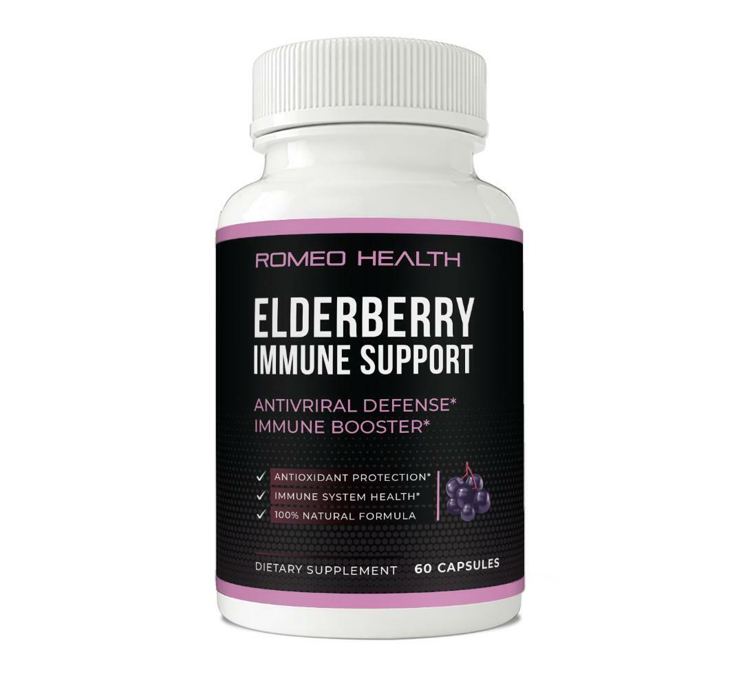 Elderberry Immune System Booster Capsules Elderberry Antiviral Defense- 60 Caps 1