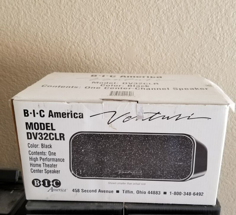 "BIC America 3-1/2"" Center-Channel Speaker Black DV32-CLR"