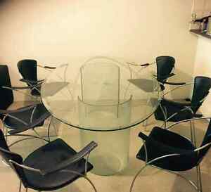 Glass Dining Table & 6 Chairs Kogarah Rockdale Area Preview