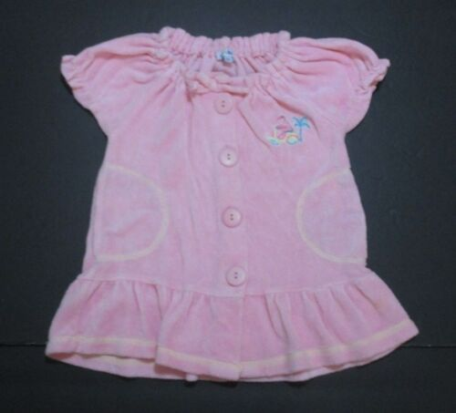 TODDLER GIRLS LE TOP PINK TERRY SWIMSUIT COVER-UP SIZE 2T