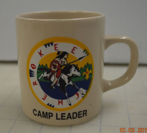 RARE BSA BOY SCOUTS OF AMERICA COFFEE CUP MUG CHEROKEE CAMP LEADER
