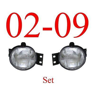02 09 Dodge Fog Light Set Assembly, Ram, W/Bulb & Bracket, Complete, Both Sides!