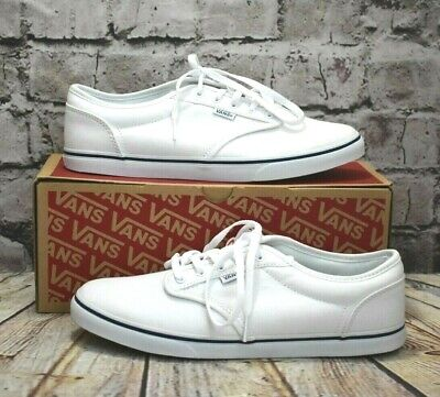Womens Vans Atwood Low White Lace Fastening Trainers Size UK 7 EUR40.5 RRP - £50