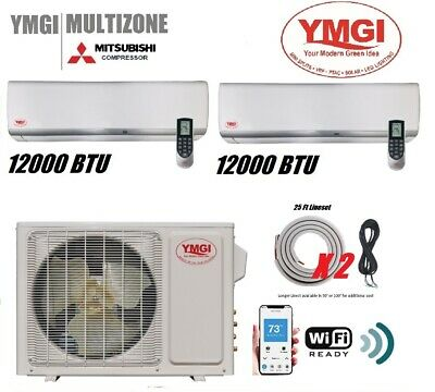YMGI 24000 BTU 22 Seer Two Zone Ductless Mini Split Ductless