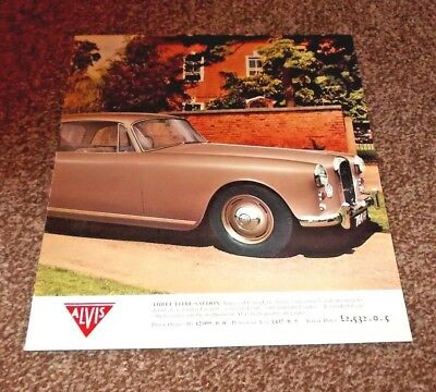RARE ALVIS THREE LITRE 4-page sales brochure - early 1960s