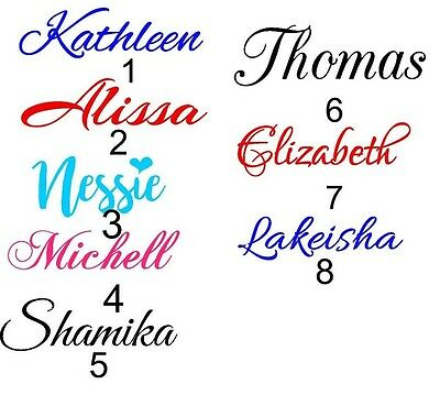 1''  PERSONALIZED VINYL NAME DECAL STICKER (UP TO 10 CHARACTERS (1 Vinyl Decal Sticker)