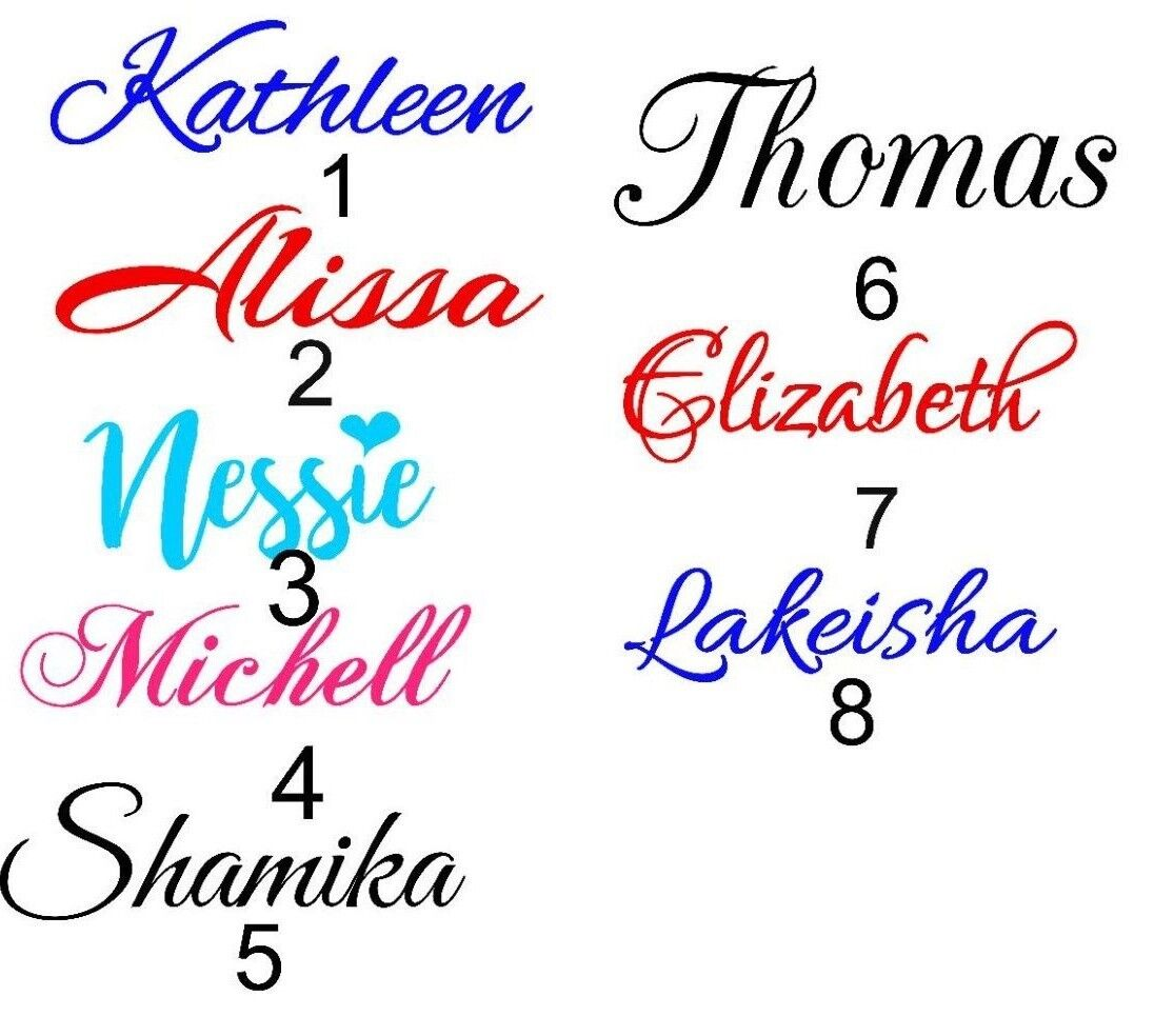 Home Decoration - 1''  PERSONALIZED VINYL NAME DECAL STICKER (UP TO 10 CHARACTERS )
