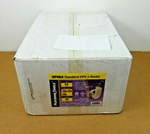 "BOX OF 25 NIB PLATINUM TOOLS HPH64 4"" STANDARD HPH J-HOOK SIZE 64 (4 AVAIL)"