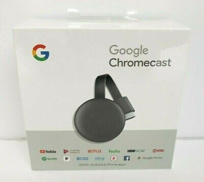 Google Chromecast 3rd Gen Digital HDMI Media Streaming Device (2019 Version) NEW