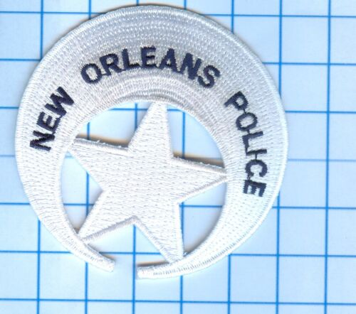 """Police Patch  - Louisiana - New Orleans (white) 3"""""""