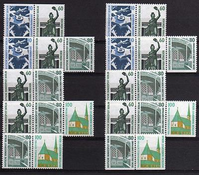 Berlin ZD W89 - W98, alle Zusammendrucke aus MH 15  ** ,  Mi: 210,00 #d898