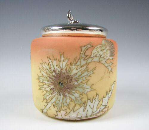 Antique Mt. Washington Art Glass Sweetmeat Jar