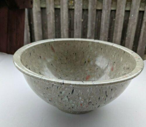 Vintage Texas Ware Bowl # 118 Confetti Gray Black and White