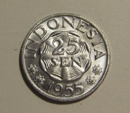 Indonesia 1955 25 Sen unc Coin