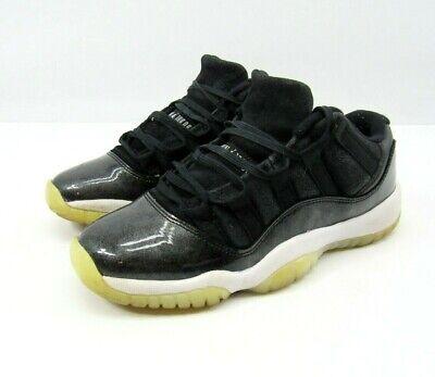 Nike Air Jordan 11 Retro BG 528896-010 Black White Silver Shoes 5Y Boys Youth