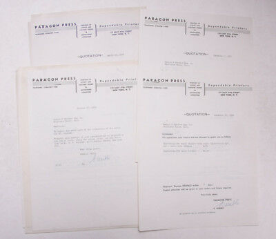 1940 Lamson Goodnow Paragon Press NYC Quotation Printers Ephemera - Paragon Printer